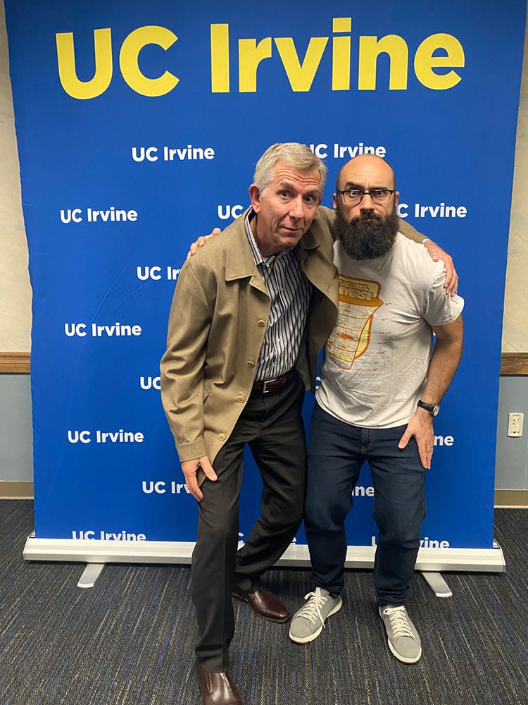 Mark Hebner and Vsauce at UCI event