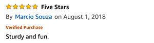 Amazon Review from Marcio