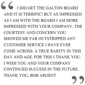 Bob Argent Quote about Galton Board