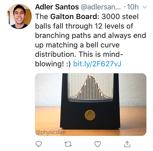 Adler Santos Tweets about Galton Board