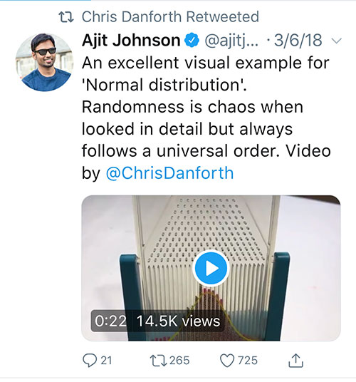 Ajit about Galton Board
